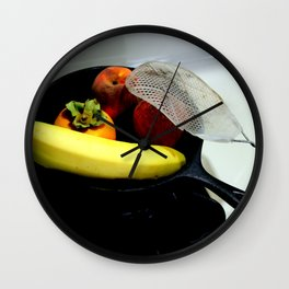 Fruit Fry, Armed And Ready Wall Clock