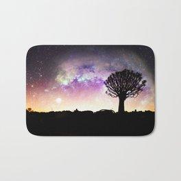 African galaxy skyline Bath Mat
