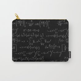 Chalk board mathematics pattern Carry-All Pouch