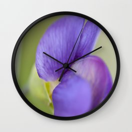 Taking Flight - Purple Lupin, New Zealand Wall Clock