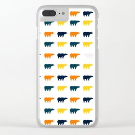 Bear Prints Clear iPhone Case