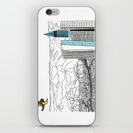 Illustration_ On the road_ Jack Kerouak iPhone Skin