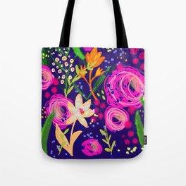 Happy garden flowers Tote Bag