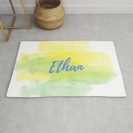 Yellow Green Watercolor Ethan Rug