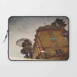 Polka Dot Brollie Lady Laptop Sleeve