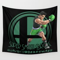 mac Wall Tapestries featuring Little Mac - Super Smash Bros. by Donkey Inferno