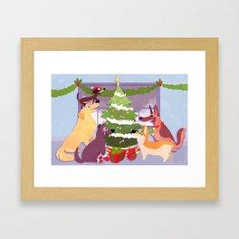 Happy HOWL-idays! Framed Art Print