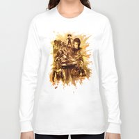 mad max Long Sleeve T-shirts featuring Homage to Mad Max by Giorgio Finamore
