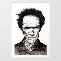 clint eastwood Art Prints featuring Clint Eastwood by Danielle Ross