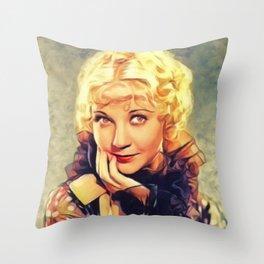Una Merkel, Vintage Actress Throw Pillow