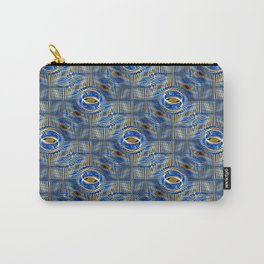 Blue Tiled Abstract Carry-All Pouch