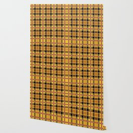 Yellow plaid Wallpaper