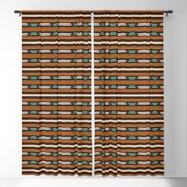 Colorful hand drawn horizontal stripes pattern. Blackout Curtain