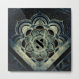 Sacred Geometry for your daily life - ESOTERIC ALEPH KYBALION EYE Metal Print