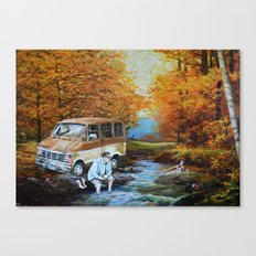 Living in a Van, Down by the River Canvas Print