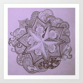 violet islet Art Print