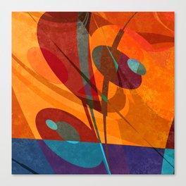Bulrush at the lakeshore Canvas Print