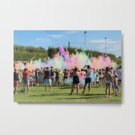 Colorful party @ the camping in Italy Metal Print