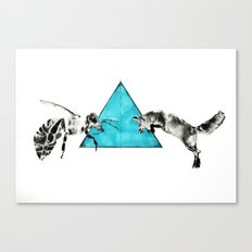 Headlock, wasp and fox Canvas Print