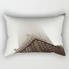 Foggy Chrysler Building Rectangular Pillow