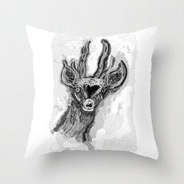 Ciervo de altura Throw Pillow