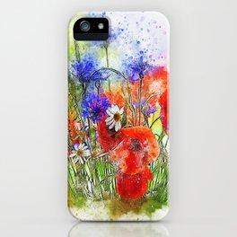 Watercolor Spring Garden iPhone Case
