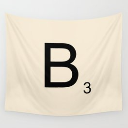 Scrabble Lettre B Letter Wall Tapestry