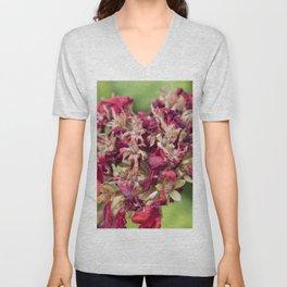geranium in the garden Unisex V-Neck