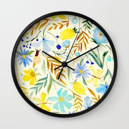 SUMMERTIME FLORAL Wall Clock