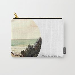 Where the sky and sea fall in love Carry-All Pouch