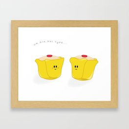 Ur Siu Mai Type Framed Art Print