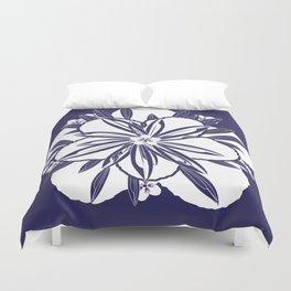 Murasaki flower Duvet Cover