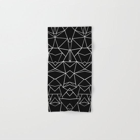 Ab Mirror Black Hand & Bath Towel