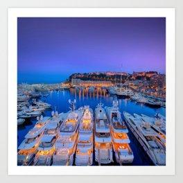 Monaco Yacht World Art Print