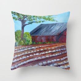 Rows of Cotton Throw Pillow