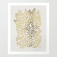Gold Ivy Art Print