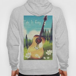 Take it Easy guitar poster. Hoody