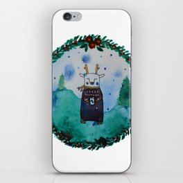 Chill Christmas deer iPhone Skin