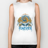 punisher Biker Tanks featuring Punisher by Tshirt-Factory