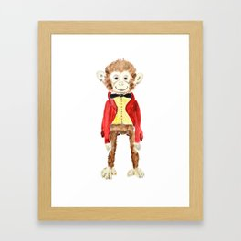Mr Monkey Framed Art Print