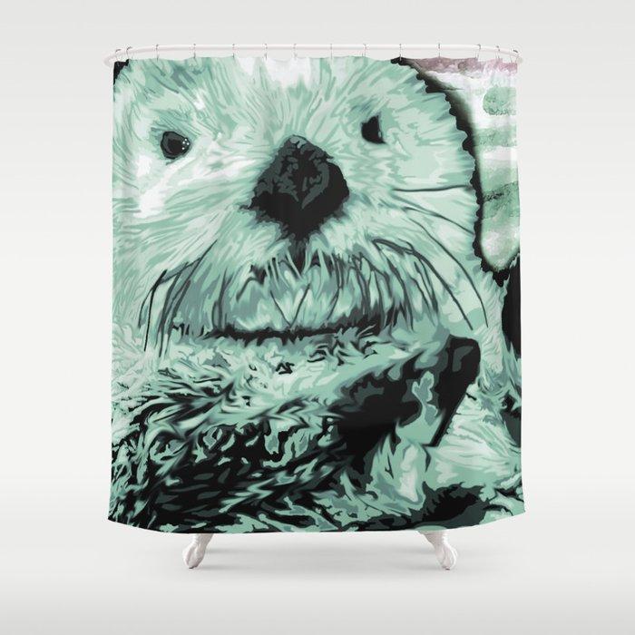 Sea Otter Shower Curtain By Jenniferstedman