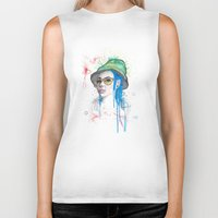 fear and loathing Biker Tanks featuring Fear and Loathing by Becca Douglas