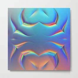 Holographic Abstract Kaleidoscope - Naboo Metal Print