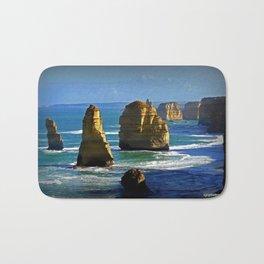 Limestone Rock Stacks - Twelve Apostles Bath Mat