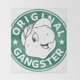 Franklin The Turtle - Starbucks Design Throw Blanket