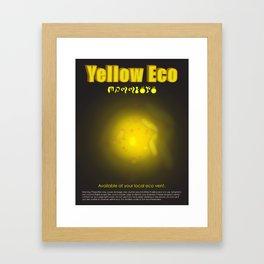 Yellow Eco Framed Art Print