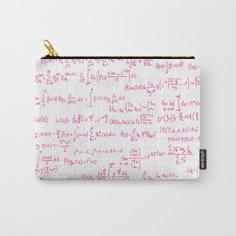 Pink Math Equations Carry-All Pouch