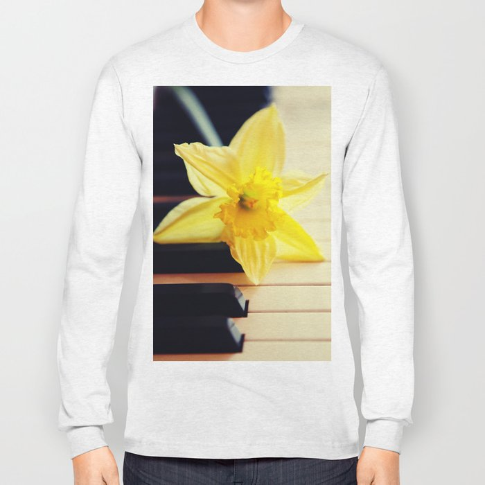 piano flower Long Sleeve T-shirt