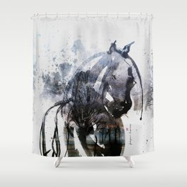 Horse (Freezing) Shower Curtain