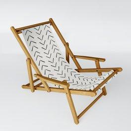 Mud Cloth Big Arrows in Cream Sling Chair